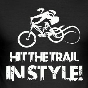 Hit the Trail in Style! Mountainbike Love - Männer Slim Fit T-Shirt
