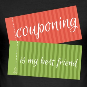 Couponing / Gifts: couponing is mijn beste vriend - slim fit T-shirt