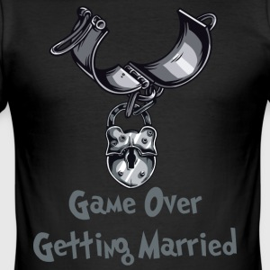 Game Over Getting Married - Obcisła koszulka męska