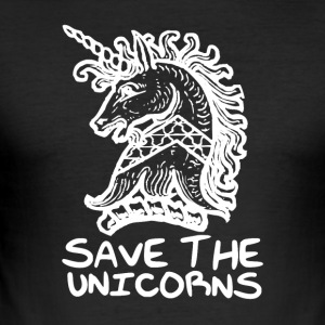 Unicorn - Save the Unicorns - Tee shirt près du corps Homme