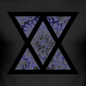 Floral Triangle - Herre Slim Fit T-Shirt