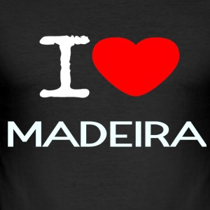 I LOVE MADEIRA - Slim Fit T-skjorte for menn