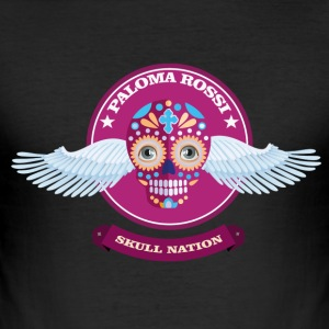 Paloma Rossi - Flying Skull Limited Edition - Männer Slim Fit T-Shirt