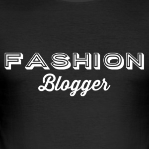 Fashion Blogger 2 - hvit - Slim Fit T-skjorte for menn