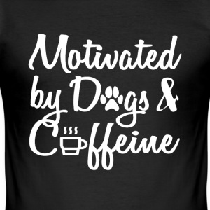 attract only by dogs and caffeine - Men's Slim Fit T-Shirt