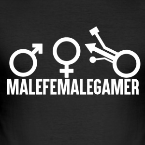 Gamer - MaleFemaleGamer - Männer Slim Fit T-Shirt