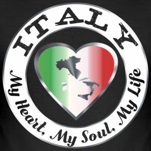 Italy - My Heart My Soul My Life - Männer Slim Fit T-Shirt