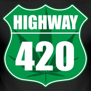 Highway 420 - Men's Slim Fit T-Shirt
