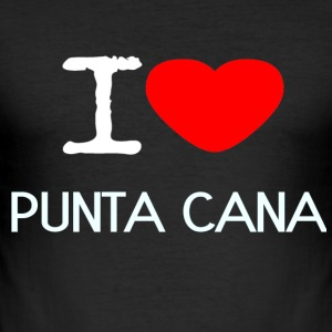 I LOVE PUNTA CANA - Männer Slim Fit T-Shirt