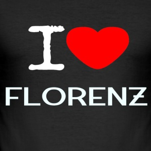 I LOVE FLORENZ - Männer Slim Fit T-Shirt