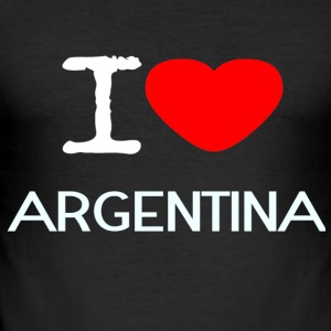 I LOVE ARGENTINA - Männer Slim Fit T-Shirt