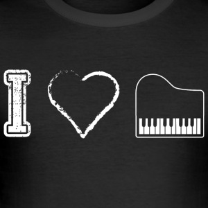 I love Piano Piano - Tee shirt près du corps Homme