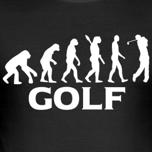 Evolution Golf Golfer Golfen wt - Men's Slim Fit T-Shirt
