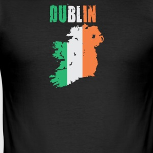Dublin Ireland Flag Design - Men's Slim Fit T-Shirt