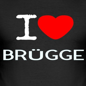 I LOVE BRUEGGE - Men's Slim Fit T-Shirt
