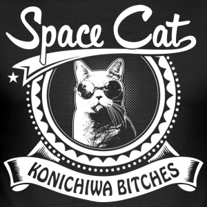Space Cat - slim fit T-shirt