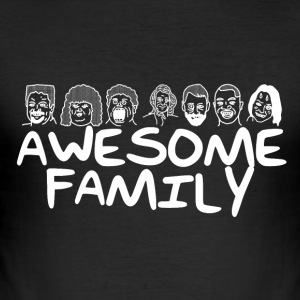 Awesome Family <3 - Slim Fit T-skjorte for menn