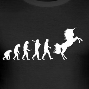 Evolution Unicorn - Männer Slim Fit T-Shirt
