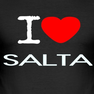I LOVE SALTA - Men's Slim Fit T-Shirt