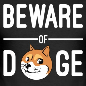Beware of Doge - Men's Slim Fit T-Shirt