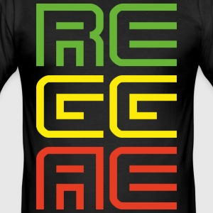 Reggae - Männer Slim Fit T-Shirt