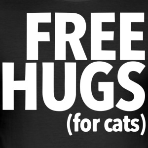 Cats Design - Free hugs for cats - Men's Slim Fit T-Shirt