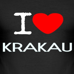 I LOVE KRAKAU - Männer Slim Fit T-Shirt