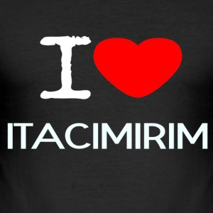 I LOVE Itacimirim - Men's Slim Fit T-Shirt