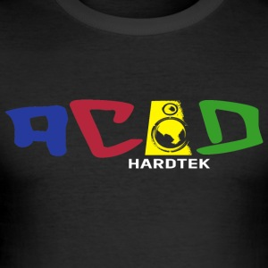 ACID Hardtek - Männer Slim Fit T-Shirt