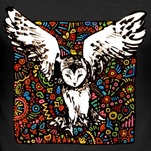 tribal owl - Männer Slim Fit T-Shirt