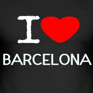 I LOVE BARCELONA - Männer Slim Fit T-Shirt