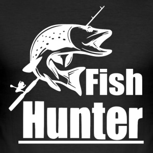 Fish Hunter - Fishing - Männer Slim Fit T-Shirt