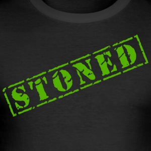 Funny Marijuana Cannabis Weed Pot Stoned - Men's Slim Fit T-Shirt