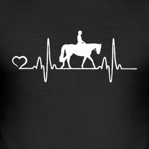 Horse - Heartbeat - Men's Slim Fit T-Shirt