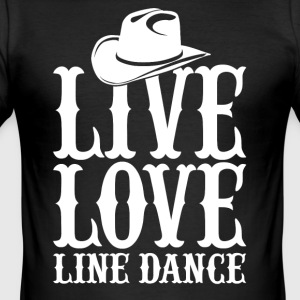 line dance - Men's Slim Fit T-Shirt