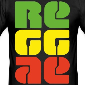 reggae - Slim Fit T-skjorte for menn