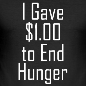 1 US-dollar mot hunger Proverbs - Slim Fit T-shirt herr