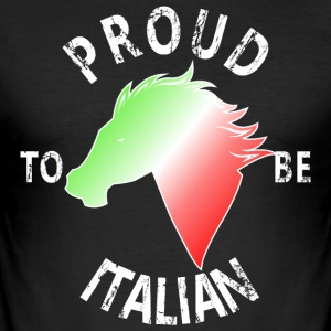 Proud To Be Italian - Herre Slim Fit T-Shirt