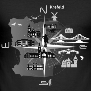 Krefeld compass, Krefeld - Men's Slim Fit T-Shirt