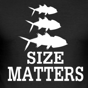 Size Matters - Fishing - Männer Slim Fit T-Shirt