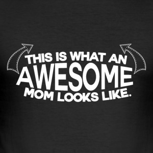 Awesome Mum - MOM - Slim Fit T-skjorte for menn