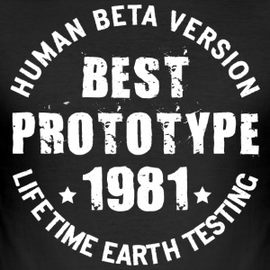 1981 - The year of birth of legendary prototypes - Men's Slim Fit T-Shirt