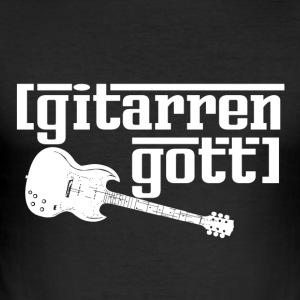 Guitar Gud - musik - Herre Slim Fit T-Shirt