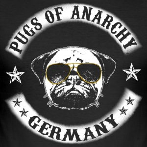pugs of anarchy - Men's Slim Fit T-Shirt