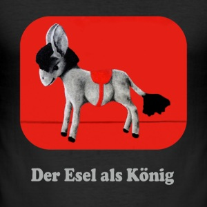 Donkey motiv 2 Specifikation 2 - lys - Herre Slim Fit T-Shirt