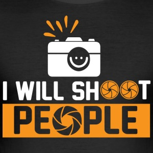 Photography - I will shoot people - Männer Slim Fit T-Shirt