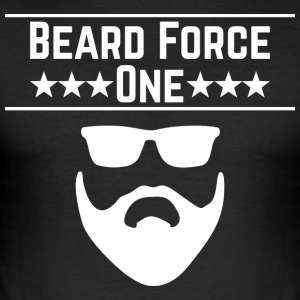 Beard Force One - Men's Slim Fit T-Shirt