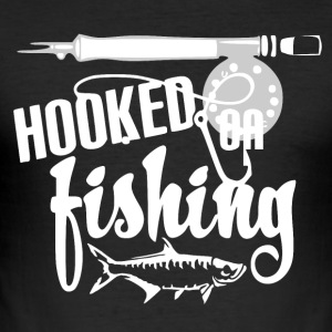 Hooked on Fishing - Fishing - Men's Slim Fit T-Shirt