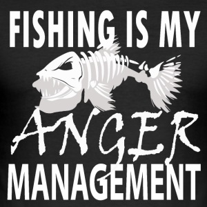 Manage your Anger - Fishing - Männer Slim Fit T-Shirt
