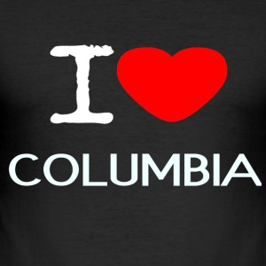 I LOVE COLUMBIA - Men's Slim Fit T-Shirt